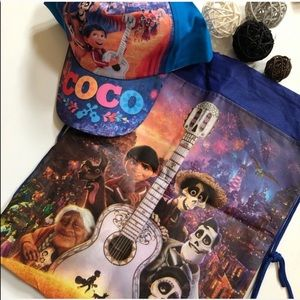 FREE GIFT! 2Pc DISNEY COCO Cap & Drawstring Bag